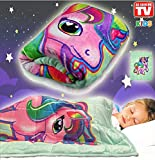 Kids Weighted Blanket by Bell + Howell, 7lb Ultra Soft and Breathable Kids Blanket with Glass Beads, Great for Calming and Sleeping 48x36 inches - Unicorn