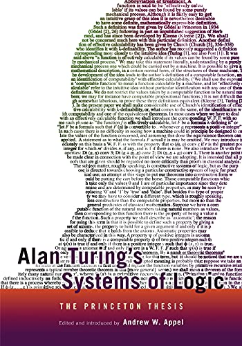 Alan Turing's Systems of Logic: The Princeton Thesis (English Edition)
