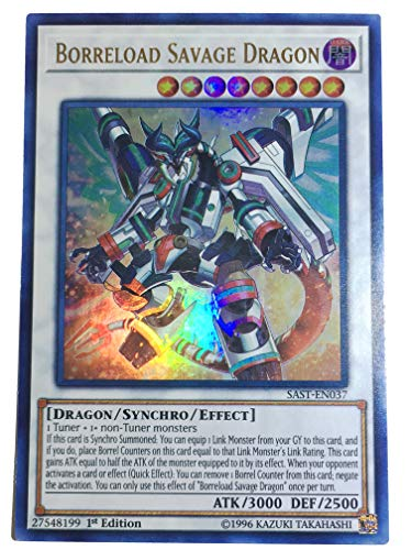 Inter-Ego Systems Inc. Yugioh Borreload Savage Dragon - SAST-EN037 - Ultra Rare - 1st Ed. - by TCGAccess