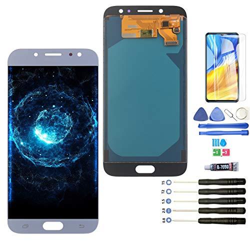 YWL-OU Reemplazo de Pantalla para Samsung Galaxy J7 Pro 2017 J730G LCD Display Digitalizador de Pantalla táctil + Herramientas (Azul)