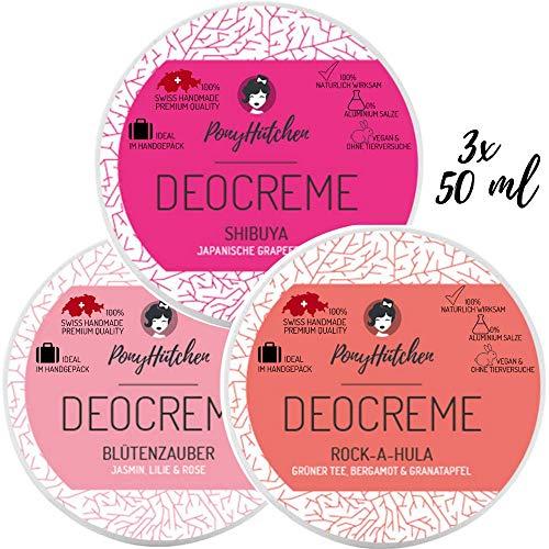 3x 50ml–superventas Juego–Natural cosmético Deo Crema Sin aluminio salze–Natural Deodorant–Vegan–Unisex