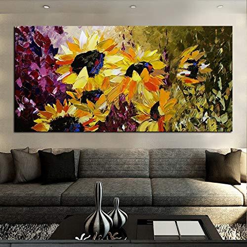 sanzangtang Leinwanddrucke Van Gogh Sonnenblume Wandkunst dekorative Bild Wohnkultur Wohnzimmer Sofa Wanddekoration60x120Rahmenlose Malerei