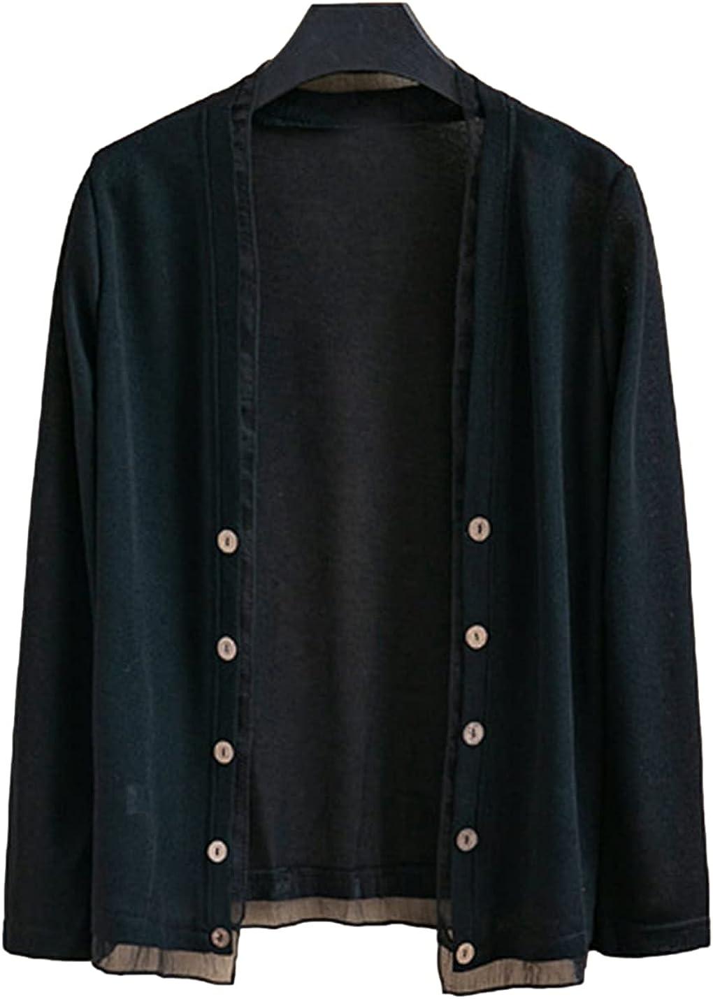 FindThy Women's Long Sleeve Fake Cardigan Layer Free Shipping Cheap Virginia Beach Mall Bargain Gift Shee Double