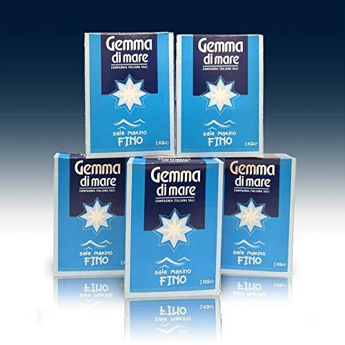 Gemma – Sal marina fina, paquete de 5 paquetes de 1 kg