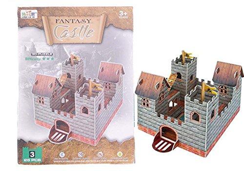 Unbekannt 3D Puzzle Mittelalter Ritterburg Burg Bastelset Castle Basteln (Nr. 3)