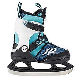 K2 Mädchen Marlee Ice Skates Schlittschuhe, Schwarz/Blau/Hellblau, 32-37 EU