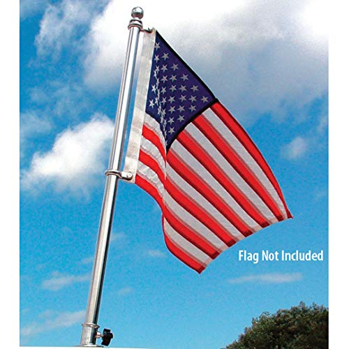 Taylor Made Products 903 Boat Flag Pole Kit, Stainless Steel, 24 inch