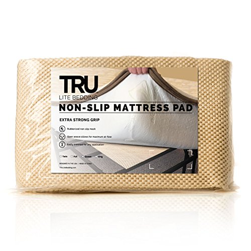 TRU Lite Bedding Extra Strong Non-Slip Mattress Grip Pad - Heavy Duty Rug Gripper- Secures Carpets and Furniture - Easy, Simple Fit - Twin Size - Rug Gripper for 3' x 6' Rug