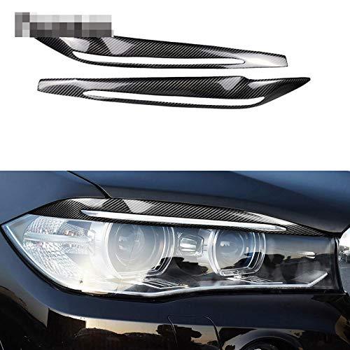 YXSMTB Ein Paar Carbon Fiber Decor Scheinwerfer Augenbrauen Augenlider Verkleidung Zubehör Auto Licht Aufkleber.Für BMW F15 / F16 X5 X6 2014 2018