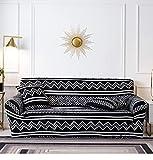 Sofa Cover Furniture Protector 1 2 3 4 Seater Black White Stripes...