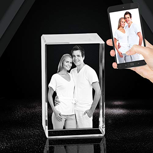3D Crystal Photo Laser Etched Engraving