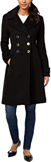 Ivanka Trump Womens Double Breasted Button Wool Jacket Flared Hem