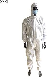 CiKiXZ Tuta con Cappuccio Protezione Vernice Tuta Abbigliamento Protettivo Monouso Bambole Elastiche Abbigliamento Protezione Antipolvere Olio Saliva Indumento per Fabbrica,Laboratorio