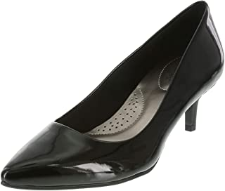 dexflex Comfort Women's Black Patent Women's Jeanne Pointed-Toe Pump 7.5 Regular