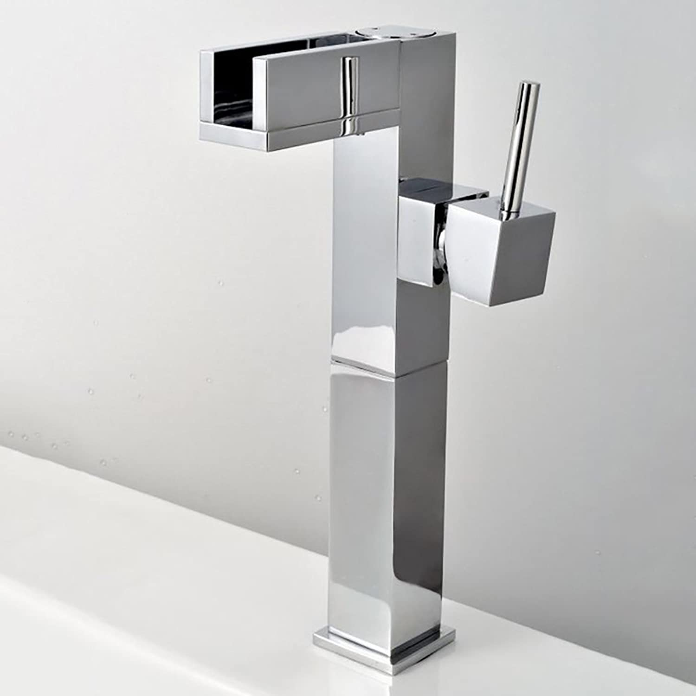 Waterfall Bathroom Faucet Classical Single Handle Vessel Sink Sink Sink Basin Lavatory Mixer Tap 443710