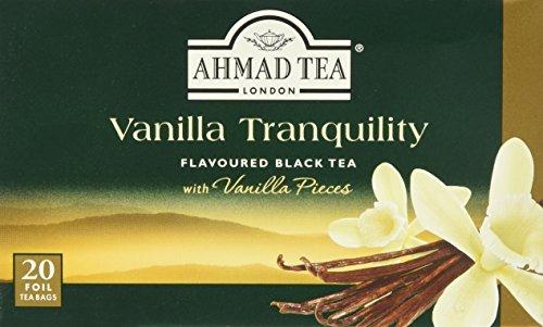 Ahmad Tea de Vanilla rbol Black Tea, 20Tea Bags, Té Negro con Aroma de Vainilla, 20bolsas de té