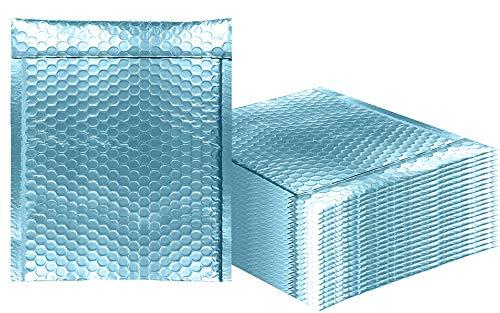 AMZ Supply Luftpolsterversandtaschen Metallic Aqua Ice Bubble Versandtaschen Glitzer-Geschenkverpackung, Versand. 6.5
