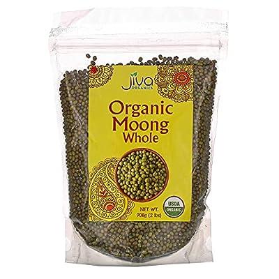 JIVA Usda Organic Whole Moong (Mung) Beans 2 Lb, Green