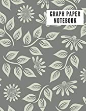 GRAPH PAPER NOTEBOOK: 5x5 Floral Graph Composition Notebook