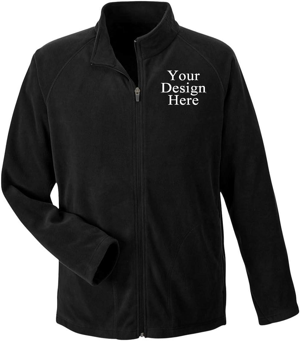 Custom Microfleece Jacket Embroidered Full-Zip Sherpa Lightweight Coat Classic Polar Fleece Outerwear for Men