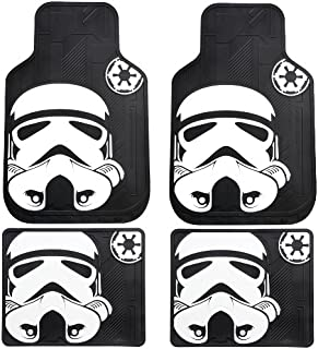 Storm Trooper with Galactic Empire Logo Star Wars Car Truck SUV Front and Rear Seat Rubber Floor Mats - 4PCS