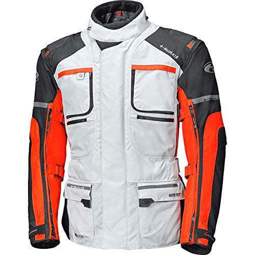 Giacca da moto Held carese II GTX, Uomo Donna, grigio-arancione