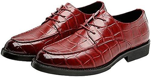 Business-Schuhe Herren PU Leder Retro Schuhe Platz Textur oberen Lace Up atmungsaktiv Business Low Top gefüttert Oxfords (Loafer optional) Schuhe (Farbe   Loafer WIE, Größe   39 EU)