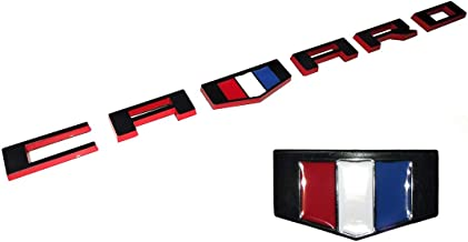 Yuauto 1x OEM CAMARO Letter Emblem Badges 3D Badge Replacement for Camaro RS SS ZL1 Z28 Chevy (Red edge)