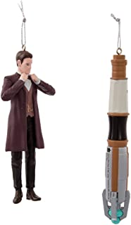 Kurt Adler Doctor Who 11th Doctor/Sonic Screwdriver Ornament, 4.5-Inch, Set of 2