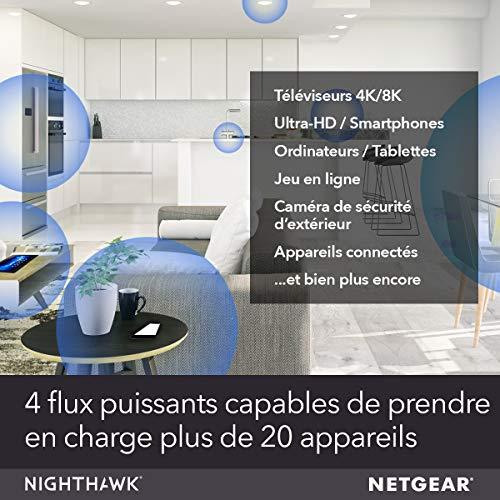 NETGEAR Système WiFi 6 Mesh Nighthawk (MK62) – Routeur WiFi 6 AX1800 pack de 2 pour un wifi partout dans la maison, WiFi plus performant que votre box, Couvre Jusqu'à 250m² et plus de 20 Appareils