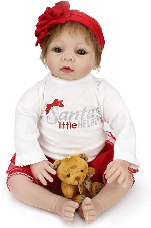 Buxuxbue Baby Puppe Lebensecht Neugeborenen Puppe Baby Silikon Vinyl Weiches 22Inch Handgemachtes Mädchen Spielzeug Kann Nicht Im Wasser Baden 22Inch B07HRV8BMN Lebensecht  | Umweltfreundlich