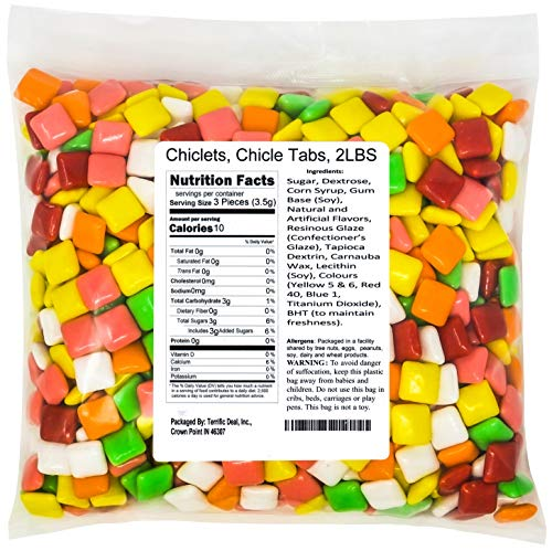 Chiclets, Chicle Tabs, 2LBS