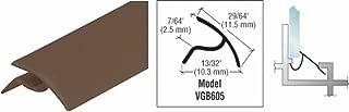 Bronze Snap-In Vinyl Glazing Bead 72 in long - 20 Pack