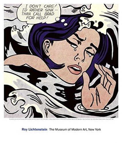 The Poster Corp Roy Lichtenstein - Ertrinkendes Mädchen Kunstdruck (58,42 x 68,58 cm)