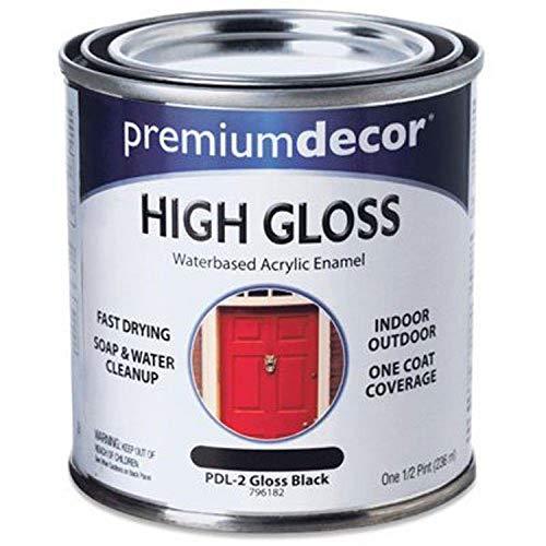 True Value PDL2-HP PD 1/2-Pint Black Gloss Enamel