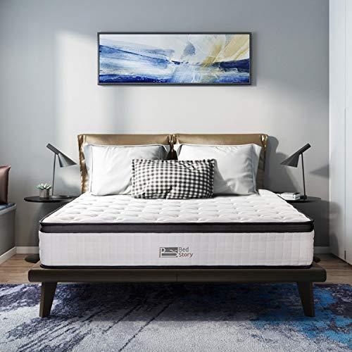 BedStory Full Mattress, 10 inch Gel Memory Foam Hybrid Spring Mattress with...