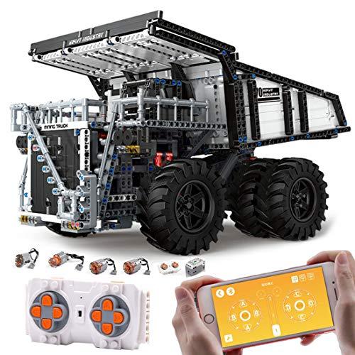 HYZM Technik LWK Kipplaster Bausteine Bauset, 2044+ Klemmbausteine 2.4G Dual FerngesteuertTechnisches Fahrzeug, Kompatibel mit Lego Technic