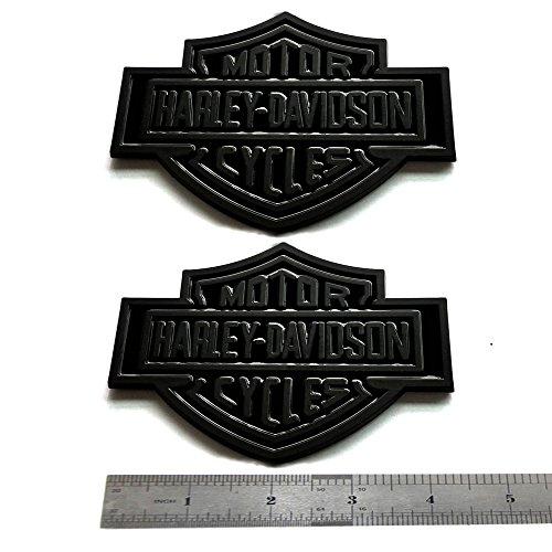 2pcs OEM Harley Davidson Fuel Tank Emblems Badges Dyna Sportster Street 3D Logo Replacement for F-150 F250 F350 Black