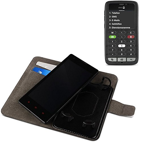 K-S-Trade Für Doro 8031C Schutz Hülle Case Walletcase schwarz Handytasche mit Kreditkartenfächern & Standfunktion Bookstyle Klapphülle Etui Handy Case Schutzhülle für Doro 8031C
