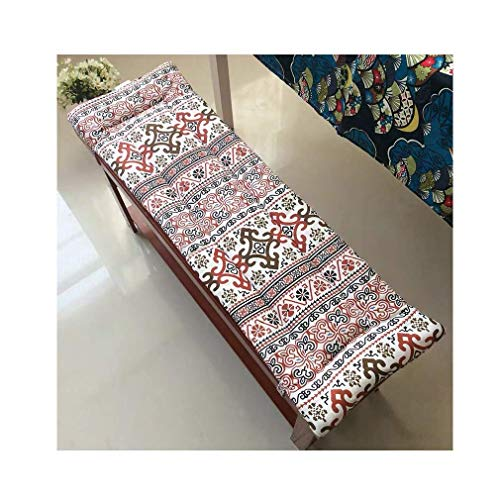 POETRY Non-slip bench cushion with swing tie 2- or 3-seater bench cushion Replacement cushion Travel mattress Indoor seat cushion Outside 3 cm thick Washable (I 150x40 cm)