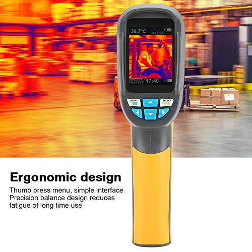 HT-02 Infrarot Wärmebildkamera, Handheld Farbdisplay IR Imager Wärmebildkamera mit einer Auflösung von 60 * 60 Infrarotkamera Thermografiekamera IR-Bildkamera IR-Bildgeber