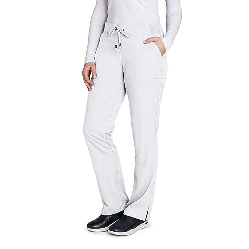 0a206d9965 Grey's Anatomy 4277 Women's Modern Fit 6-Pocket Tie Front Straight Leg  Scrub Pant