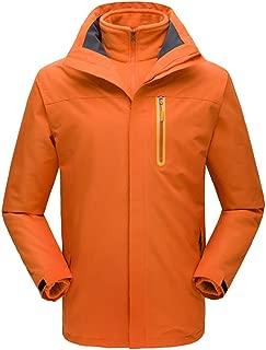SOMESHINE Men's Mountain Ski Jacket 3 in 1 Waterproof Winter Jacket Warm Snow Jacket Hooded Rain Coat Windproof Winter Coat