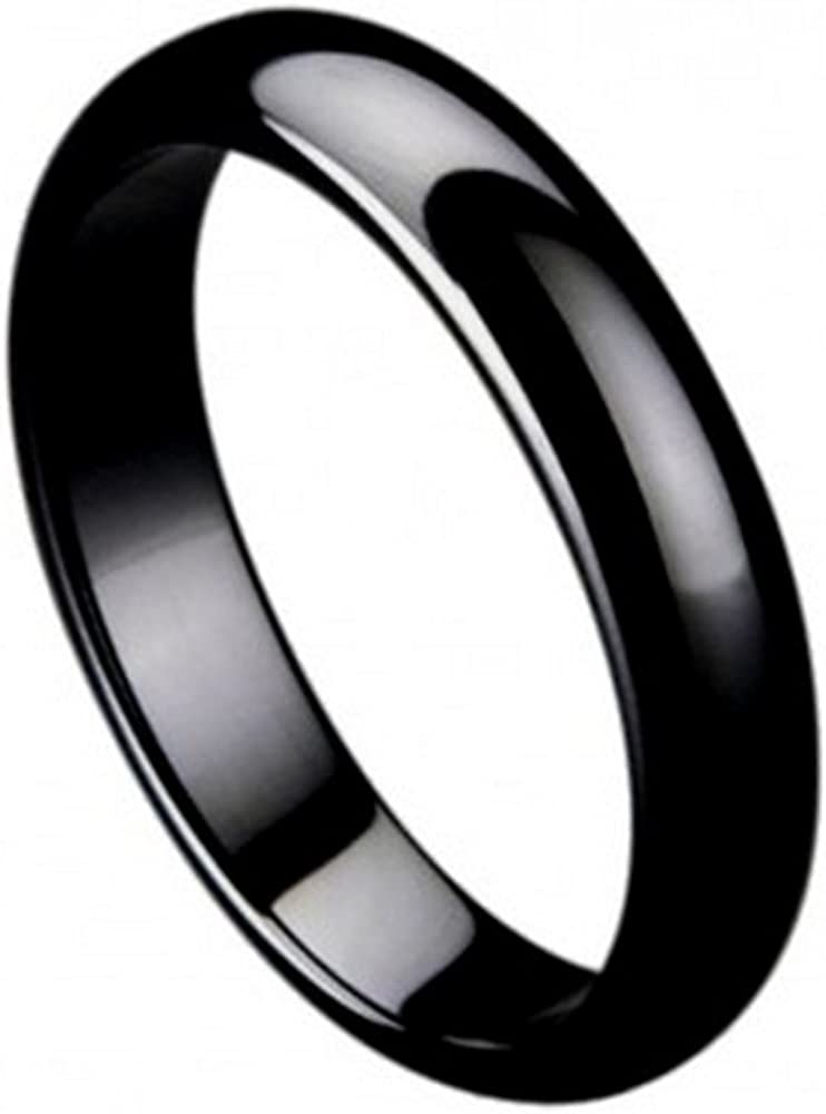 Ring Sale item for Men and Women 5mm Wedding Store Black R Ceramic Band