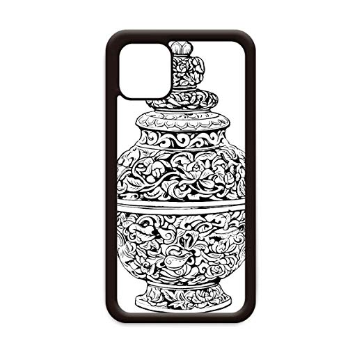 Chinese cultuur Qing dynastie vaas lijn voor Apple iPhone 11 Pro Max Cover Apple mobiele telefoonhoesje Shell, for iPhone11 Pro Max