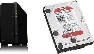 【NASキット】Synology DiskStation DS118 [1ベイ /  クアッドコアCPU搭載 / 1GBメモリ搭載] 1ベイの高性能モデル & Western Digital HDD 内蔵ハードディスク 3.5インチ 3TB WD Red NAS用 WD30EFRX 5400rpm 3年保証