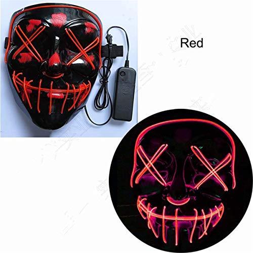 XUEE Halloween-masker, lichtmasker cosplay, led rave gezichtsmasker kostuum, 3 verlichtingsmodi, Halloween, gezichtsmaskers voor mannen, vrouwen, kinderen
