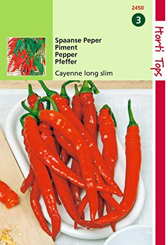 2 stuks Peper Cayenne, Spaanse Lange Rode