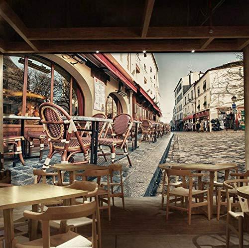 Vintage retro restaurante fondos de pantalla para cafe building tea shop fondo...