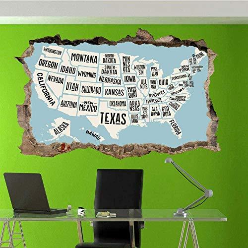 Status mapy naklejka ścienna sztuka mural dom biuro sklep dekoracja/winyl sztuka mural